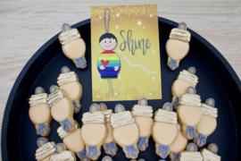 Geluks popje 11 SHINE cookie cutter & kaartje(S)