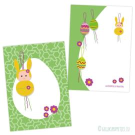 Gelukspoppetje voorjaar / pasen kaartje