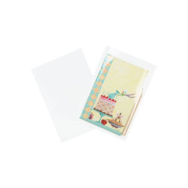 Plastic Zakken 7,6x13cm Transparant  (100 stuks)