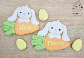 Haas met wortel  cookie cutter