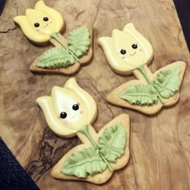 Tulp cookie cutter