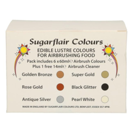 Sugarflair lustre mixed airbrush set