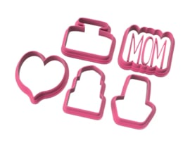 Chubby MOM 5 delige mini's cookie cutters