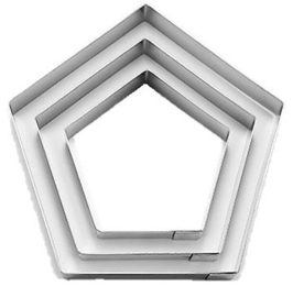 5 Hoeken set/Pentagon koek-it