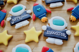 Space-iaal schooljaar cookie cutter set