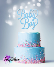 BABY BOY CARD TOPPER - BLUE