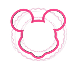 Mouse  cookie cutter & stencil