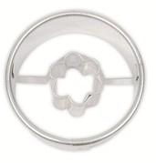 Cirkel met bloem koek-it