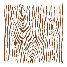 wood grid Stencil