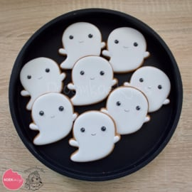 Ghost couple halloween cookie cutters 2 pieces