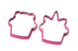 Duo cupcake cookie cutters