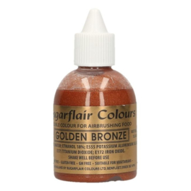 Sugarflair airbrush colouring glitter  golden bronze 60 ml