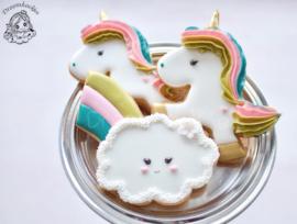 Regenboog wolk cookie cutter