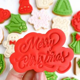 Advent stempel set met handvat & cookie cutters - 50 delig  -