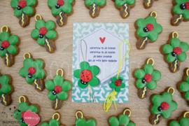 Geluks popje 1 cookie cutter & kaartje(S)