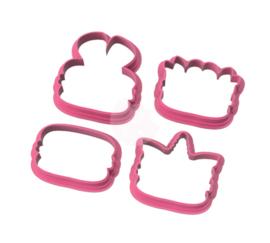 Macaron diertjes mini's cookie cutters