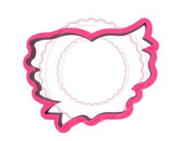 Hart met lint cookie cutter