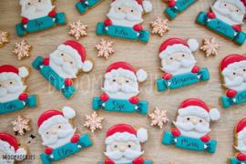 Santa plaque cookie cutter