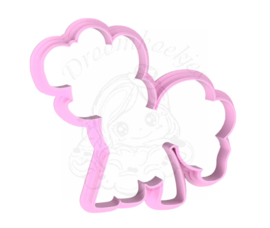 Pony roze 1  cookie cutter
