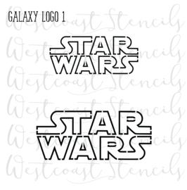 Galaxy logo stencil