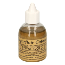 Sugarflair airbrush colouring royal gold 60 ml