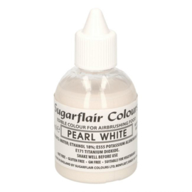 Sugarflair airbrush colouring glitter pearl white 60 ml