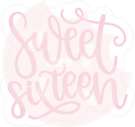 Sweet sixteen  cutter & stencil set