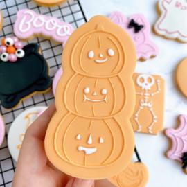 Halloween - Pompoen stapel outbosse & cookie cutter 2 delig