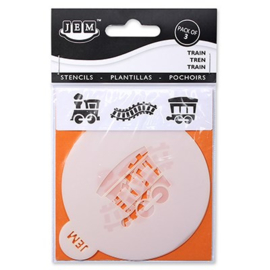 "JEM STENCIL - TRAIN SET OF 3 (90MM / 3.5"")"