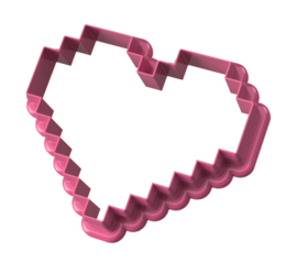 Pixel hart  cookie cutter