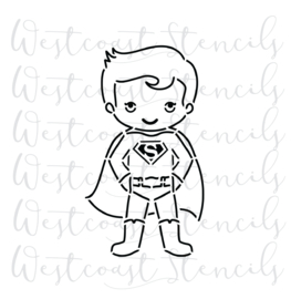 Superman PYO cookie stencil