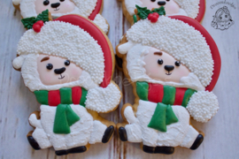 Sitting christmas Llama cookie cutter