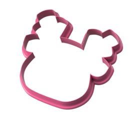 Rendier hoofd cookie cutter