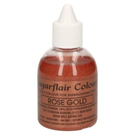 Sugarflair airbrush colouring glitter  rose gold 60 ml