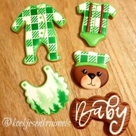 Baby cookie stencil