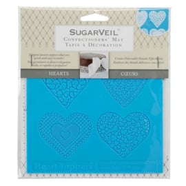 SugarVeil Heart Toppers Mat