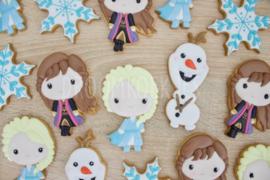 IJs prinsessen set - 3 delig  cookie cutters & hulp stencils
