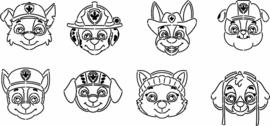 Reddingshondjes cookie cutters & help stencils 8 delig