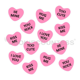 Mini Conversation Hearts ( 2 piece)