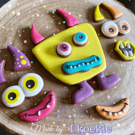 Puzzel monster set   cookie cutters 8 delig