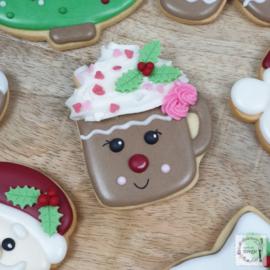Koffie kop met kaneel cookie cutter