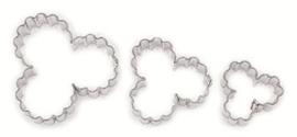 Klavertjes drie gekarteld koek-it