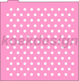 Polka dot 2  cookie stencil
