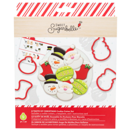 Sweet sugarbelle COOKIE CUTTER SET -  A TASTE OF CHRISTMAS (9 PIECE)
