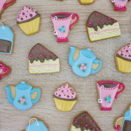Thee set moederdag  5 delig cookie cutters