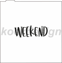Weekend cookie stencil