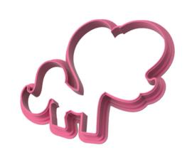 Zombi unicorn cookie cutter