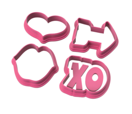 Chubby mini's 4 delig  cookie cutters
