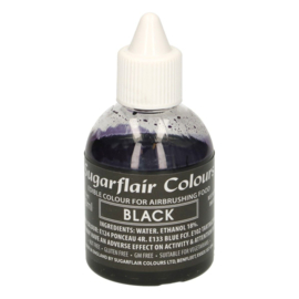 Sugarflair airbrush colouring  black 60 ml