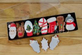 Kerst set doosje  5 delig cookie cutters